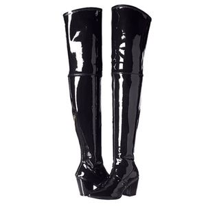 Michael Antonio black thigh high boots size 6